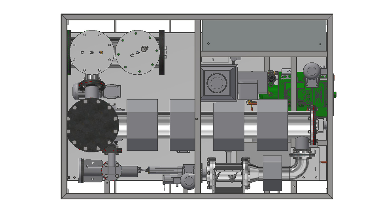 Thermolysis module for plastics recycling